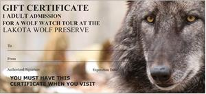 11A Adult Admission Gift Certificate