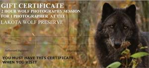 11A Photography Gift Certificate